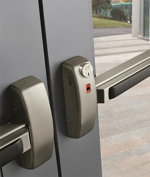 Commercial Locksmith Services including exit, entrance hardware for doors