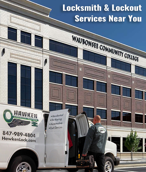 Commercial & Residential Locksmith Services Sugar Grove Near Waubonsee